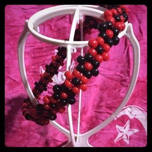 Red and Black Flower Crown